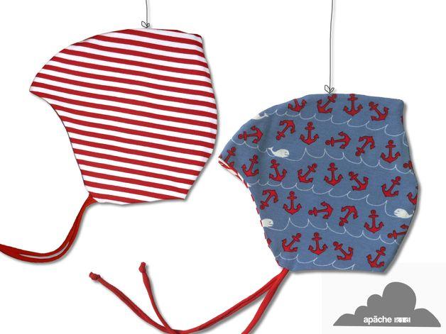Mützen - Baby Mütze ⚓ ANKER ⚓ Zipfelmütze ⚓ BIO ⚓ wendbar - ein Designerstück von apache_kid bei DaWanda