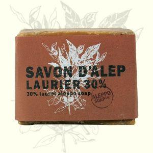 Jabón artesanal de Alepo con un 30% de aceite de laurel. Ideal pieles grasas, eccemas, psoriasis. Alto poder regenerador sin dañar.