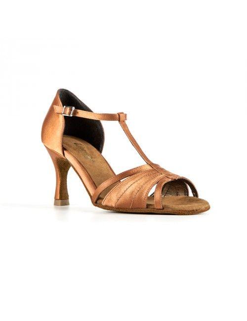 CLOE | ZAPATO BAILE DE MUJER SALSA/LATINO EN RASO COBRE #zapatosdebaile #danceshoes #bachata #salsa #kizomba