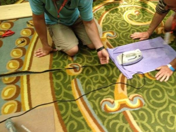 Photo essay! Emergency carpet repair at Connections 2012.: Photo Essay