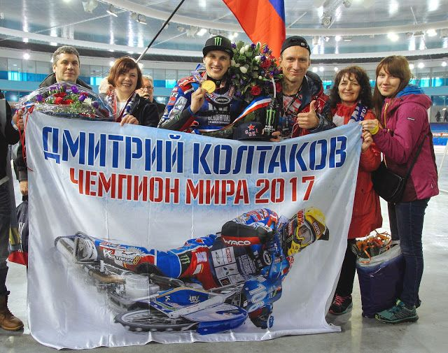 .Champion and his fans !