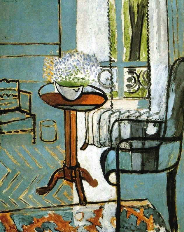 """""""The Window"""" by French artist Henri Matisse (1916). Oil on canvas"""