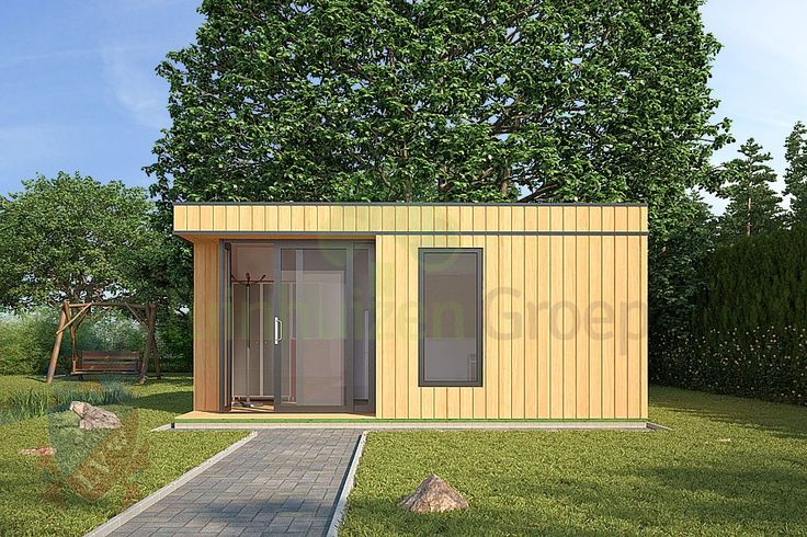 Modern tuinhuis Loenen 5.1m x 2.7m | Tuinhuizen, Blokhutten, Houten Schuren, Houten Garages, Werkruimtes, Energiezuinige Kantoor Modellen en Houten Zomerhuizen.