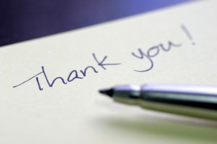 Thank You Note Writing Tips