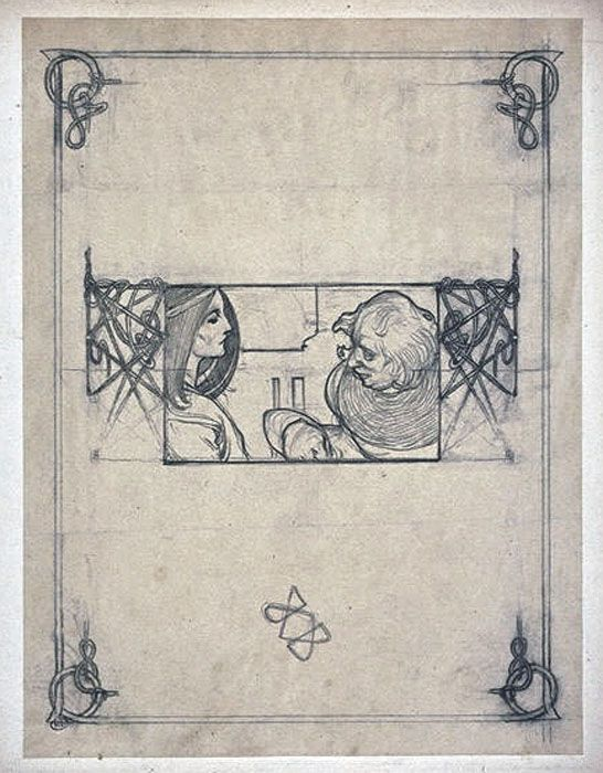 Alphonse Mucha - I love seeing sketch marks on the works in progress of Masters!  I learn so much.