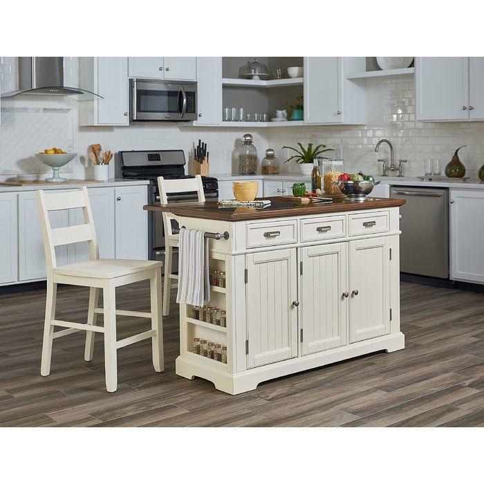 Hewson Kitchen Island Set White Kitchen Island Country Kitchen Island Country Kitchen