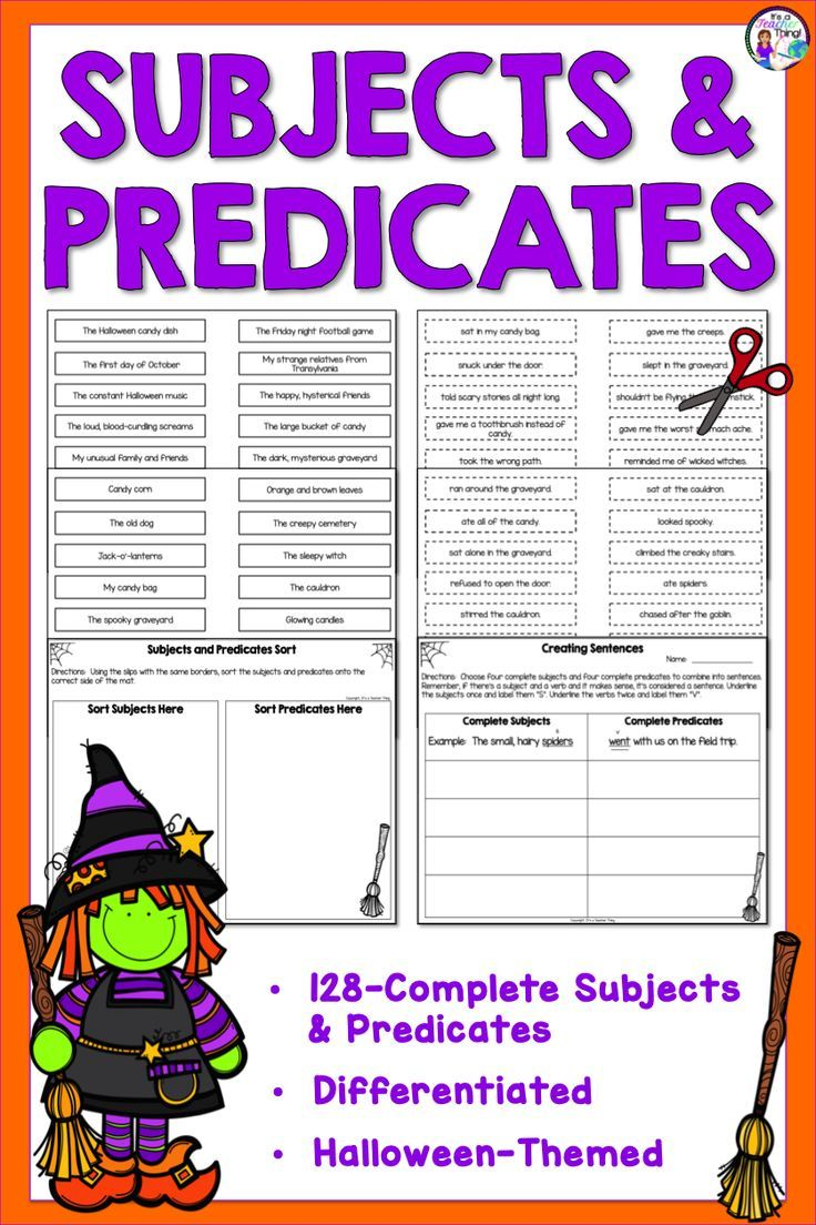Subject And Predicate Activities Can Be Fun And Versatile Help Your 2nd Grade Through Mi Subject And Predicate Subject And Verb Complete Subject And Predicate [ 1104 x 736 Pixel ]