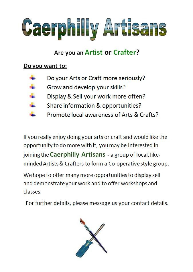 Are you an Artist or Crafter in Caerphilly? Read on...
