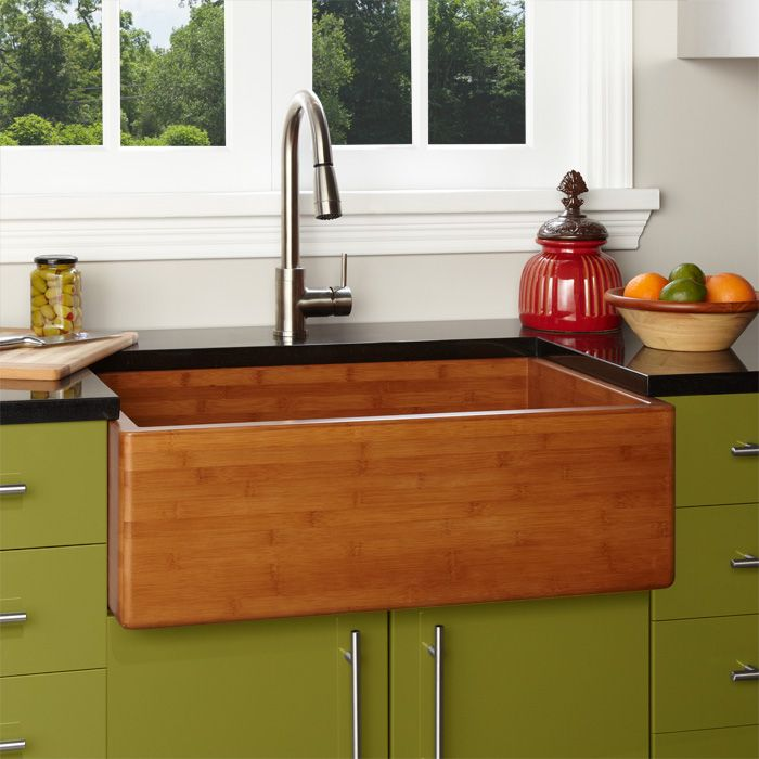 Bamboo Kitchen Sink