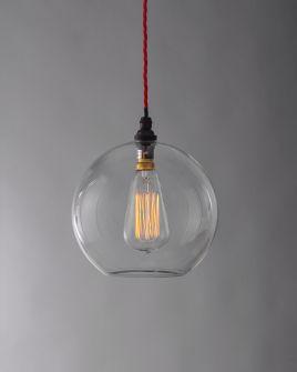 Hereford glass globe pendant light | Fritz Fryer