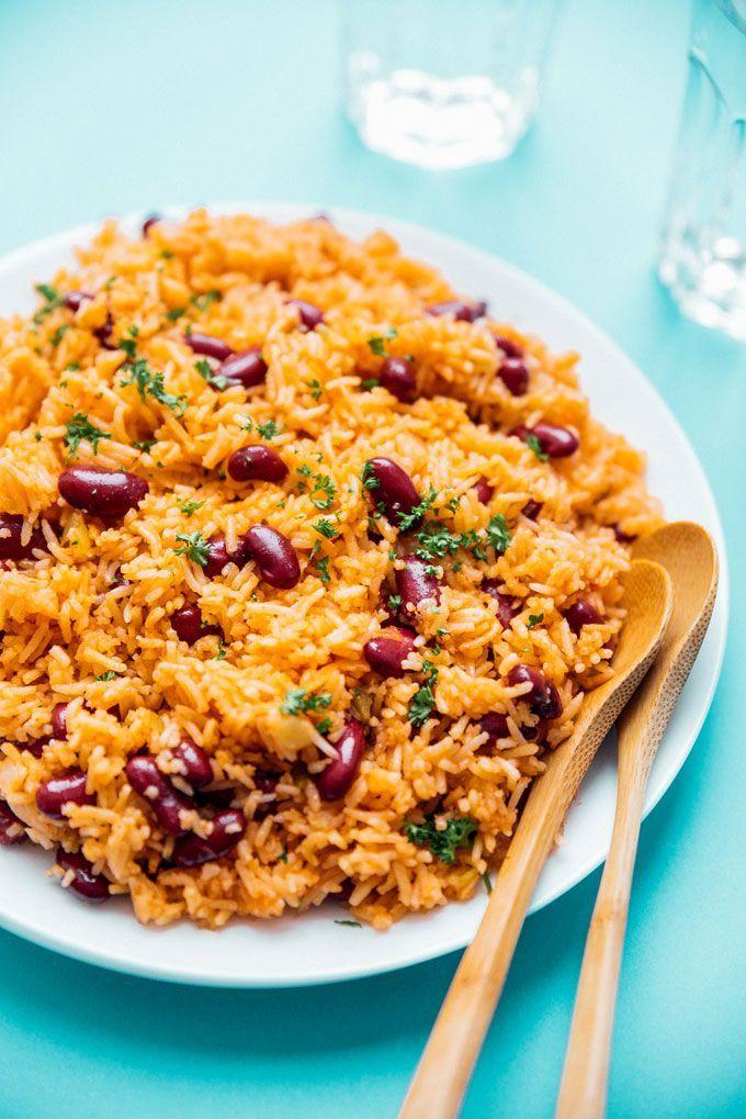 Easy Spanish Rice And Beans Recipe Spanish Rice And Beans Rice And Beans Recipe Spanish Rice Easy