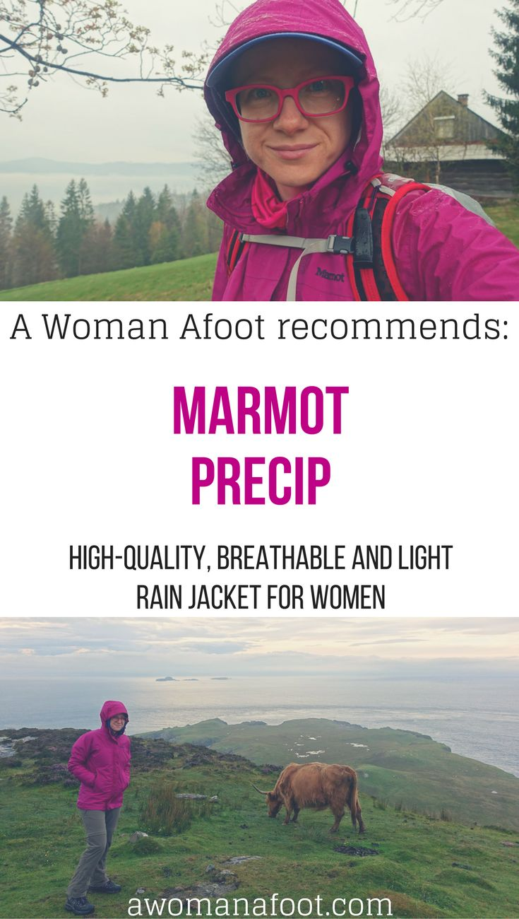 Searching for a good rain jacket? Here it is: light, with pit-zips vents and awesome rain protection! Marmot Women's PreCip jacket. [aff.] | Women's Hiking Gear & Clothing| women's rain jacket | outdoors jacket | waterproof jacket | Marmot gear |
