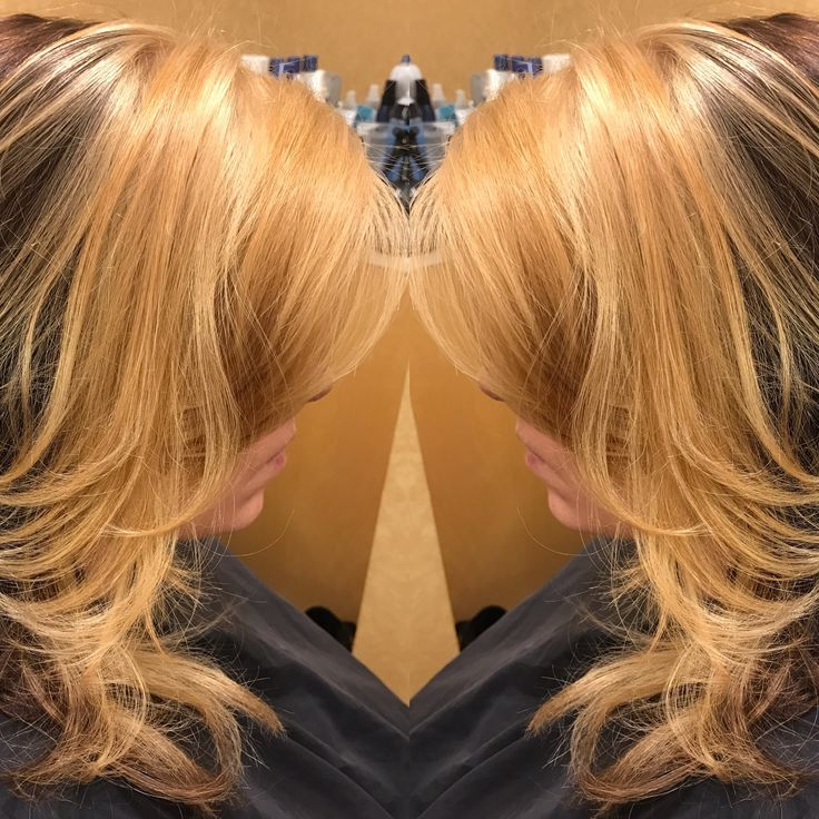 Special effects color blonde in front mocha in back