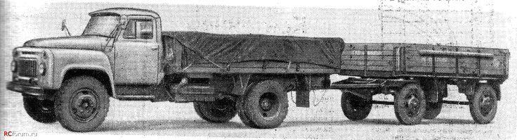 23 ГАЗ-53-0,5 с прицепом ГКБ-816 1968 год