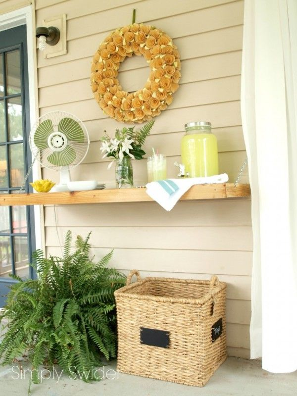 Drop-Down Outdoor Buffet Table