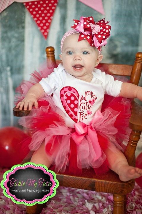Valentine Cutie Pie Tutu Outfit. $ 49.95, via Etsy.