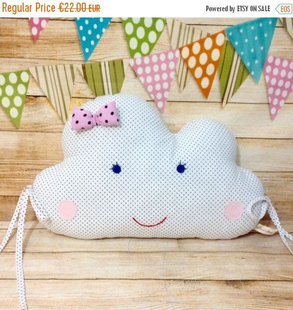 Check out Sale Cloud Pillow, Cloud Cushion, Crib Pillow, Baby Shower Gift, Nursery Pillow, Nursery Bedding, Kids Room Decor on matildasworld15