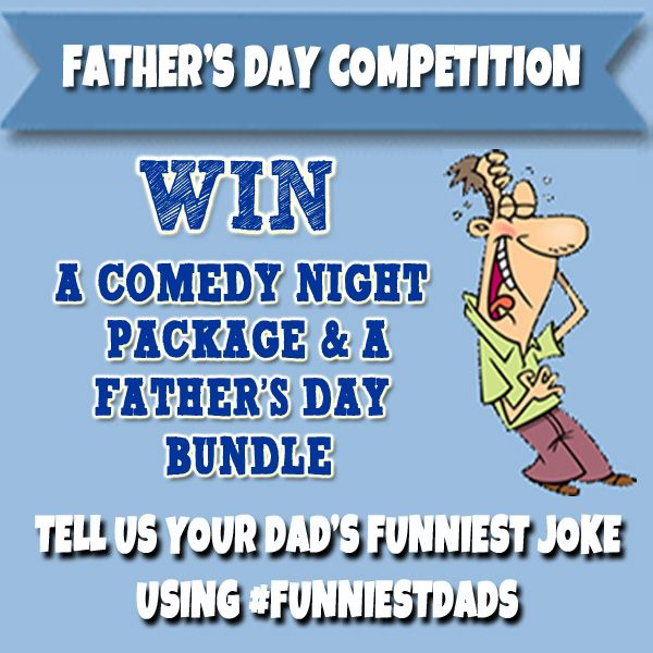 Father's Day Competition to #win a comedy night package for 4 and Father's Day Card and Gift Wrap Bundle from Danilo.com. Enter by 17th June 2015, details are at http://bit.ly/DaniloComps