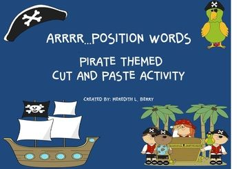 Simple cut and paste activity using position words.  Directions and pictures to cut out and a work mat is provided. (see thumbnails)clip art by mycutegraphics.com