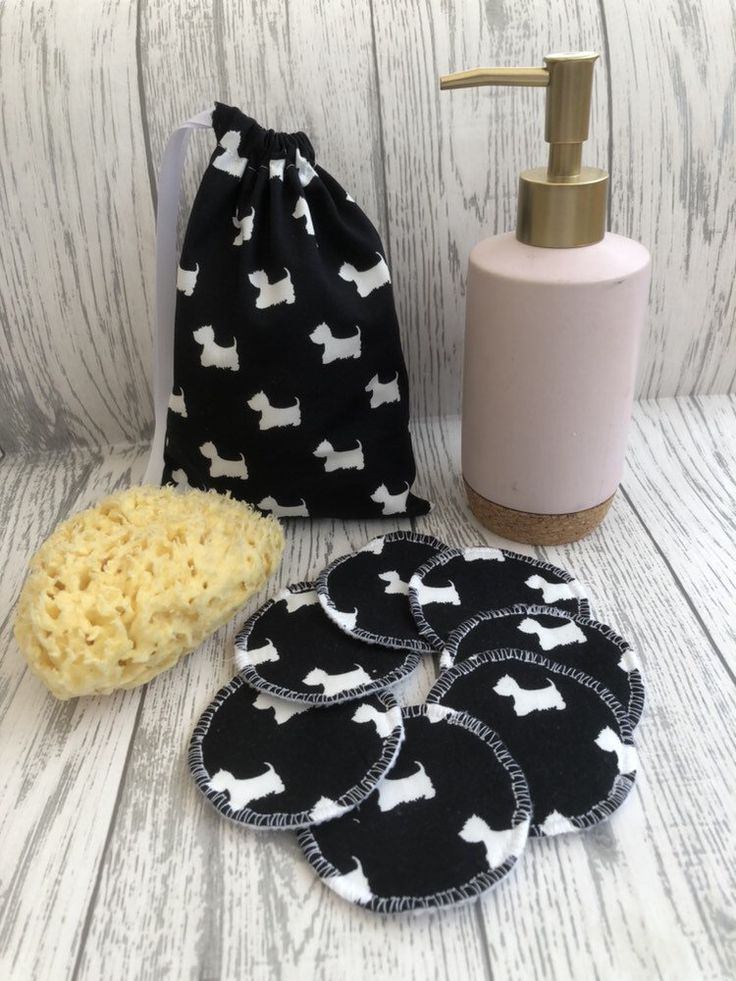 Reusable Face Pads with Wash Bag, Zero Waste Makeup, Eco