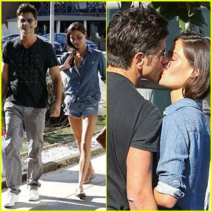 John Stamos & Girlfriend Caitlin McHugh Pack on the PDA!