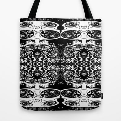 Psycho Egg Man Tote Bag by Joe Pansa - $22.00
