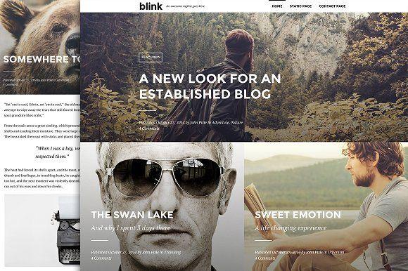 Blink - A WordPress blogging theme @creativework247