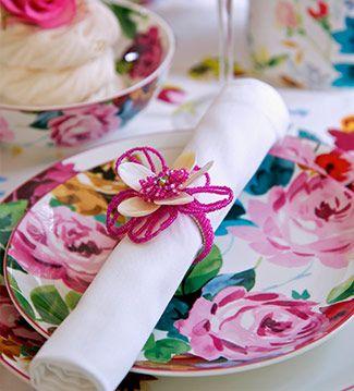 Primavera: colorindo a mesa