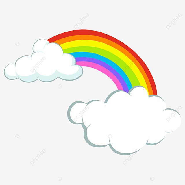 Cartoon Cloud Children S Drawing Simple Rainbow Children S Drawing Kindergarten Png And Vector With Transparent Background For Free Download In 2020 Rainbow Drawing Cartoon Clouds Cloud Drawing