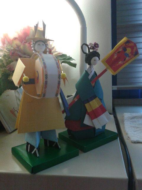종이 접기, 궁중 의상  www.JennyBows.com