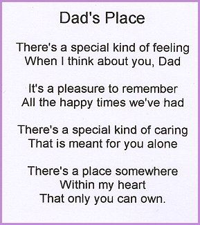 A funeral poem for your dad or
