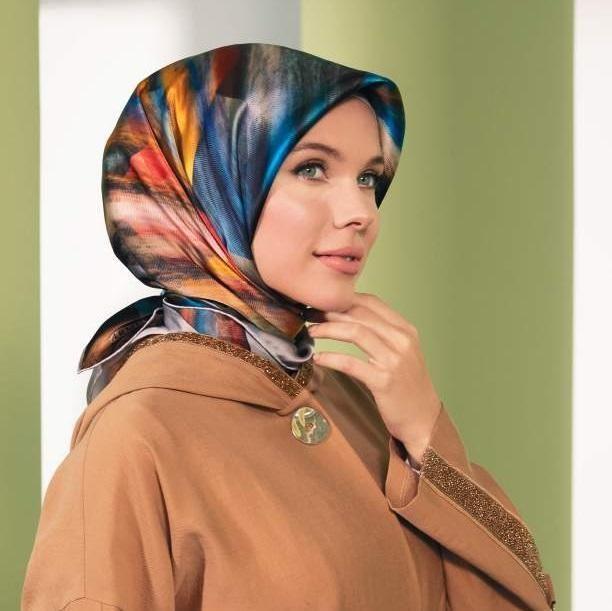 Armine Erika Square Silk Scarf No 1 Square Silk Scarf Hijab Fashion Silk Twill Scarf