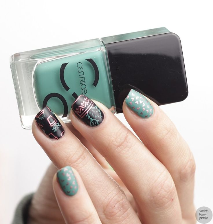 Moyou London Hipster Collection 16 Plate Cactus Stamping Nailart perfect for Summer with matte Top Coat Catrice ICONails Mermaday Mayday
