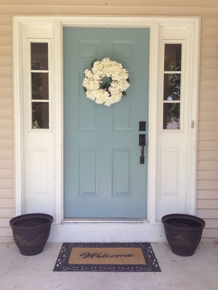 New fresh look for summer! Benjamin Moore Williamsburg Wythe Blue