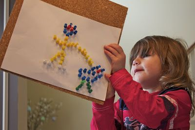 Getting Creative with Push Pins | Activities For Children | Clay and Crafts, Documents, Letters/Numbers | Play At Home Mom