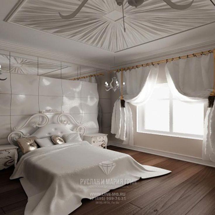 Дизайн интерьера спальни в доме | Подробнее: http://www.line-mg.ru/kievskoe_shosse_-_spalnya/