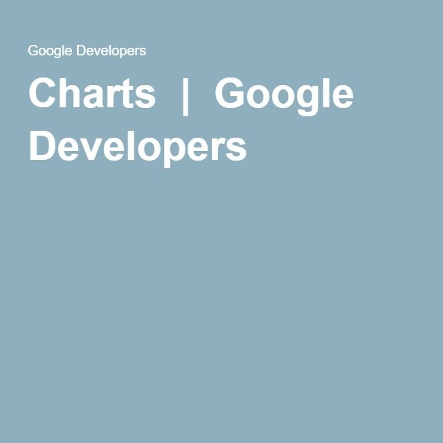 Charts  |  Google Developers