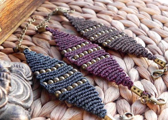 макраме браслеты бохо хиппи цыганский богемный естественным путем QuetzArt