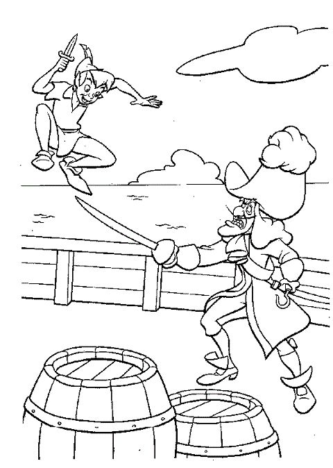 28 best coloring pages 14 peter pan images on Pinterest Peter
