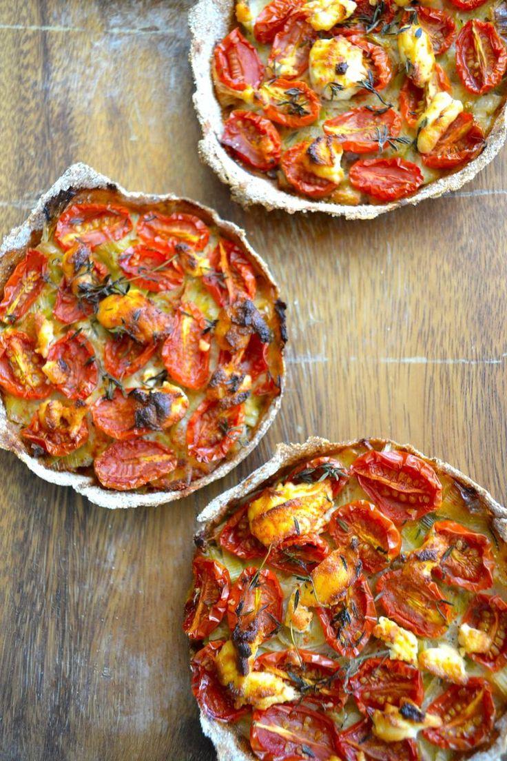 Tartes de tomates.