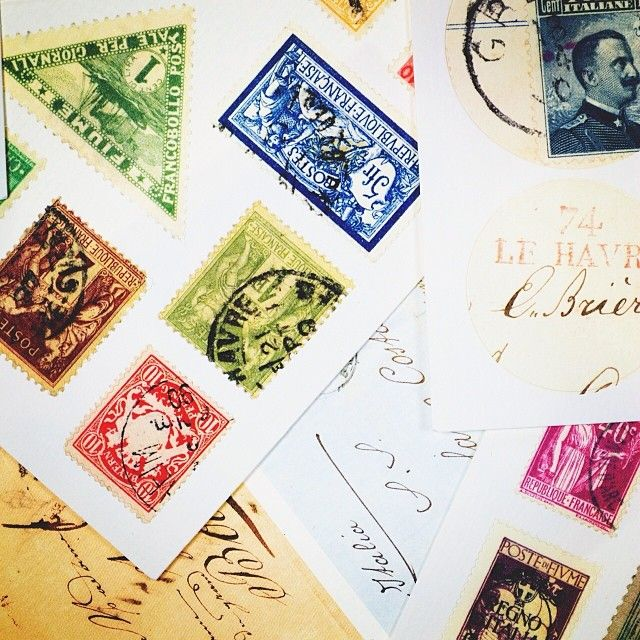 These vintage inspired stamp stickers are perfect for brightening up an old suitcase! #stationery #stickers #vintage