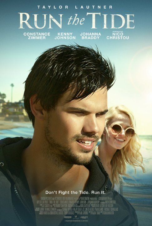 Taylor Lautner and Johanna Braddy in Run the Tide (2016)