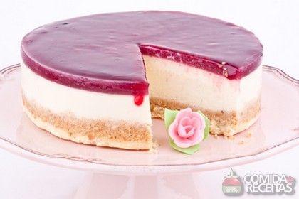 Receita de Cheesecake de framboesa - Comida e Receitas