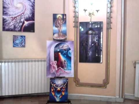 Expozitie de pictura Sala Ronda cercul Militar Nationa - Expune Corina Chirila