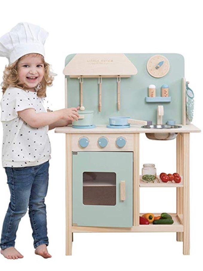 Little Dutch Kinderkuche Holz Inkl Zubehor Mint Kinderkuche