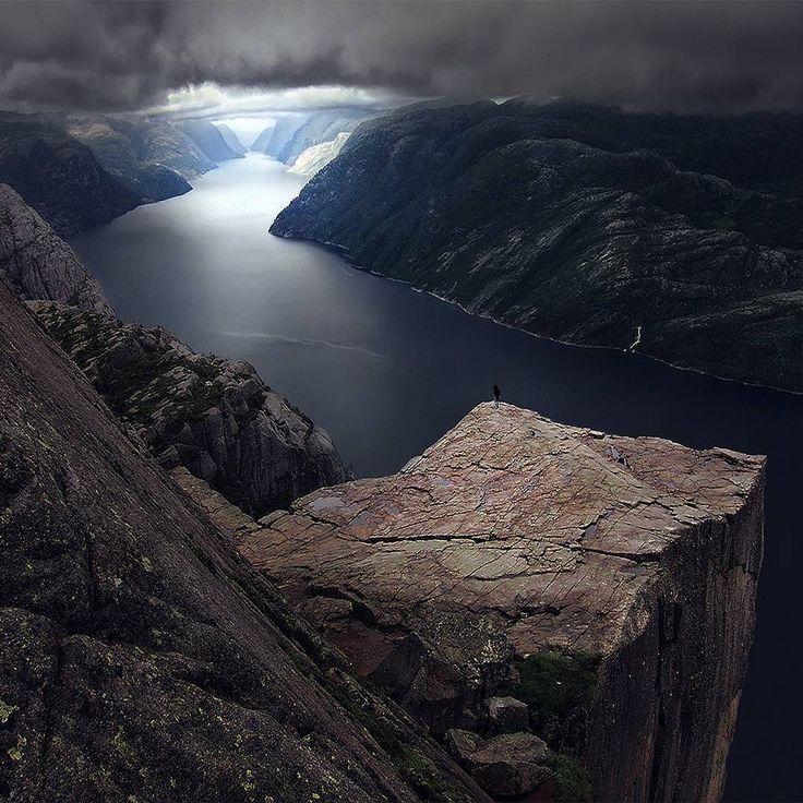 "opticcultvre: "" maxrivephotography ~ The fjords of Norway, Preikestolen. """