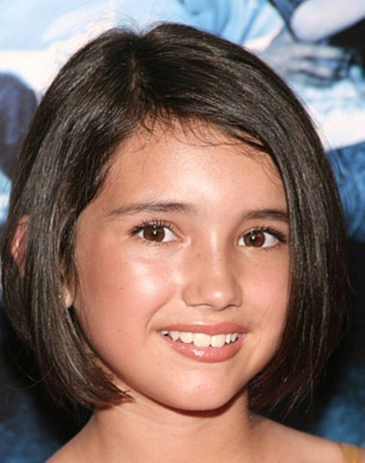 Kids Hairstyles For Girls straight blunt haircut with braid short hairstyles for little girls Kids Haircuts For Short Hair Girls