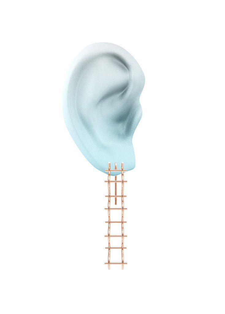 Criss Cross Slim Hook Earrings by SMITH/GREY