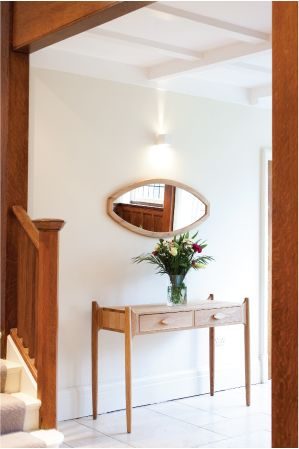 Seed console table and mirror