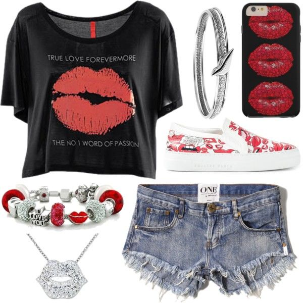 National Kissing Day by ghostanna on Polyvore featuring polyvore, fashion, style, Abercrombie & Fitch, Philipp Plein, Bling Jewelry and Diane Von Furstenberg